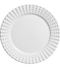 conjunto 06 pratos rasos perles branco - incolor - dafiti