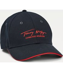 tommy hilfiger men's signature baseball cap sky captain -