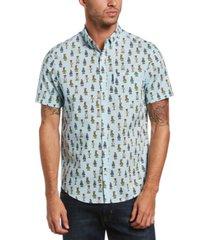 original penguin men's heritage slim-fit stretch hula girl-print shirt