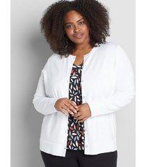 lane bryant women's button-front cardigan 18/20 white