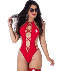 body fio dental estilo sedutor em viscolycra com persex vermelho - vermelho - feminino - dafiti