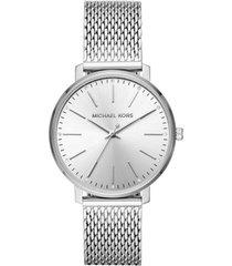 reloj fashion plateado michael kors
