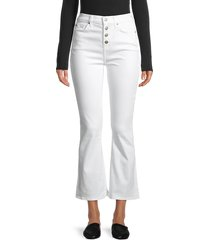 7 for all mankind women's high-rise slim kick jeans - white fashion - size 25 (2)