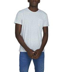 camiseta jaspe luck & load cuello redondo con bolsillo