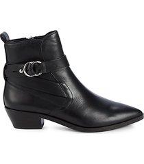 kichi leather booties