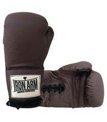 luva de boxe muay thai pro wood cadarço iron arm