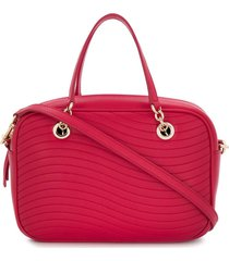 furla swing quilted satchel bag - pink
