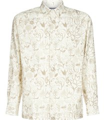 jacquemus baou print viscose shirt
