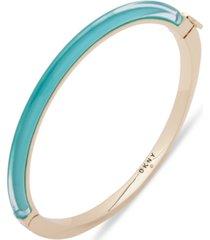 dkny gold-tone & colored inlay bangle bracelet