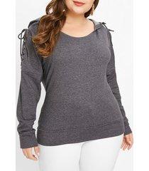 plus size drop shoulder hoodie