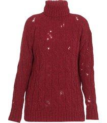 uma wang high neckline sweater