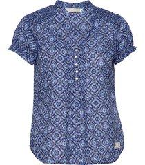 perfect print blouse blouses short-sleeved blå odd molly