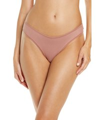 skims stretch cotton dipped thong, size 3 x in rose clay at nordstrom