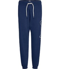 gap logo heavyweight easy joggers sweatpants mjukisbyxor blå gap