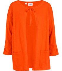 cardigan in jersey (arancione) - bpc bonprix collection