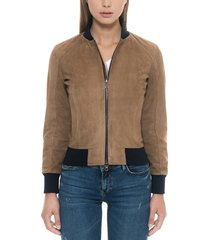 forzieri designer leather jackets, brown suede women's bomber jacket