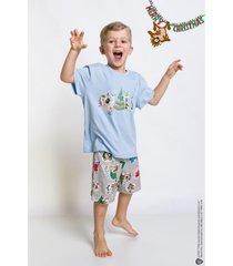 pijama e camisola acuo pijama e camisola cinza - cinza - menino - dafiti