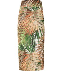 lygia & nanny orixa print beach skirt - multicolour