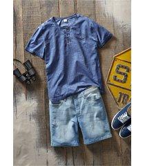 shorts di jeans comfortstretch lunghi regular fit (blu) - john baner jeanswear