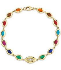 7 color enamel cat's eye bracelet