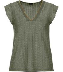 maglia traforata (verde) - bodyflirt