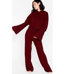 womens take the easy option hoodie and pants lounge set - claret