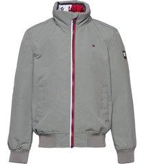 essential jacket bomberjack grijs tommy hilfiger