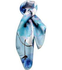 lenço smm acessorios floral azul