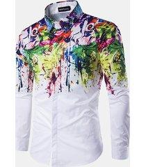 camicia slim fit stampa fantasia floreale