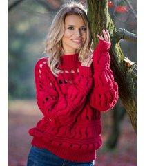 sweter krótki wełniany
