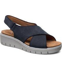 un karely sun shoes summer shoes flat sandals blå clarks