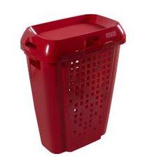 cesto de roupas astra rb7 45 litros com tampa bordô