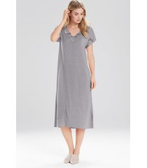 natori zen floral t-shirt nightgown, women's, grey, size xs natori