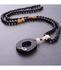 collane di gioielli internazionali per donne in stile cinese con collana di fascino vintage in rilievo