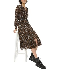 bloemenprint shirt jurk