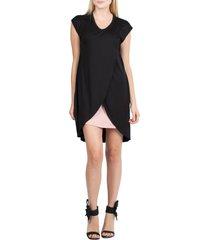 women's savi mom lille maternity/nursing tunic dress, size small - black