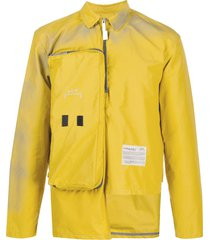 a-cold-wall* zipped pocket long sleeved jacket - yellow