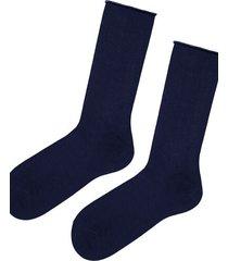 calzedonia short cuffed cotton socks, no elastic man blue size tu