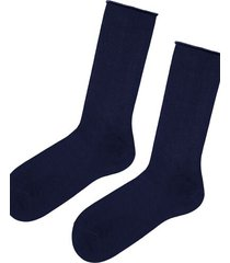 calzedonia short cuffed cotton socks, no elastic man blue size tu