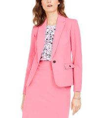 nine west single-button crepe jacket