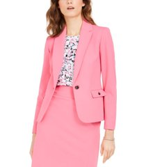 nine west single-button crepe jacket
