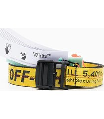 off-white man yellow and black classic industrial belt