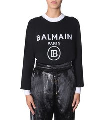 balmain crew neck sweater