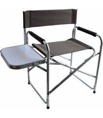 cadeira dobrável nautika diretor com mesinha lateral