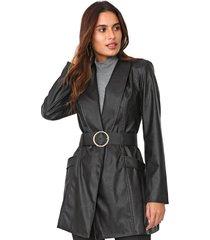 casaco trench coat lança perfume resinado preto