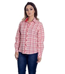 camisa pimenta rosada beatriz xadrez vermelha