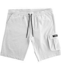 ac36 presented by prada x north sails torbay fleece bermuda shorts | grey violet | 454008-906