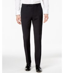 bar iii men's skinny fit stretch wrinkle-resistant black suit pants, created for macy's