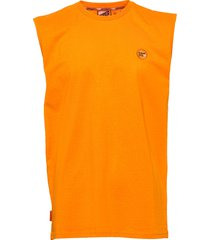 collective over d vest t-shirts sleeveless orange superdry
