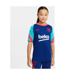 camiseta nike fc barcelona strike infantil